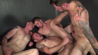 4 Guys Worship Cock and Fuck Ass