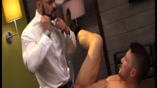 Rogan Richards Drills Marco Rubi at Men at Play