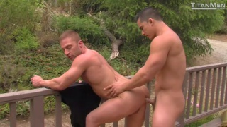 Topher DiMaggio fucking JR Bronson outdoors