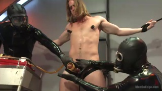2 masters use long-haired slave boy