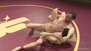 naked wrestling studs fuck on the mats