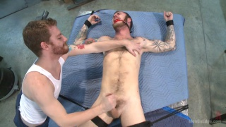 Christian Wilde bound and cock teased