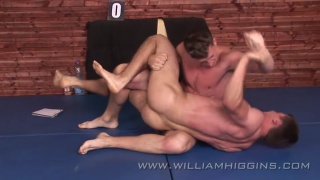 euro studs in fully naked wrestling match