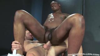 Tyson Tyler rides Landon Conrad cock