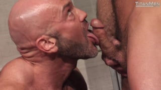 mature hairy hunks fuck on locker room floor