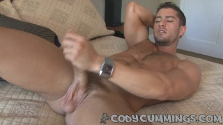 Italian hunk squirts his load