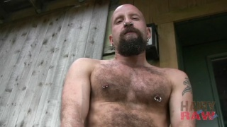 Furry Bearded Rubber Pig