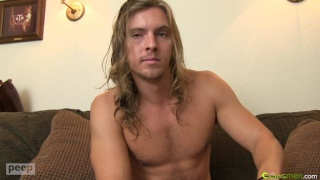Long-Haired Blond Beating Off