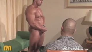 Massive muscle worshipping action