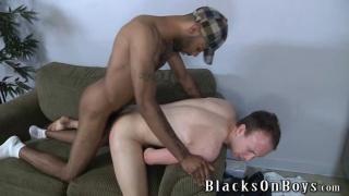 black guy getting white boy head