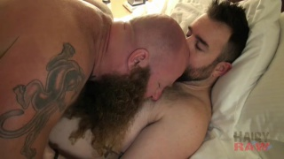 bearded ginger Viking pounding hole