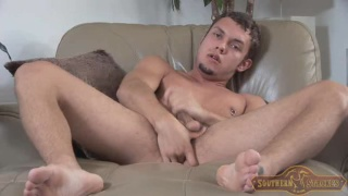 hot stud masturbates and fingers his hole