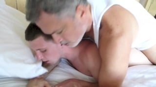 cute hung boston boy plays with two daddies