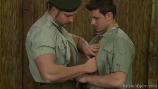 two hunky soldiers take some R&R