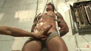 Muscle Hunk Trenton Ducati Bound & Cock Edged