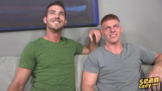 bareback sex with Hunter and Aidan