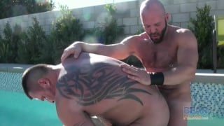 hairy men fucking in hot tub