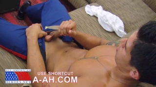 latino marine jacking his dick