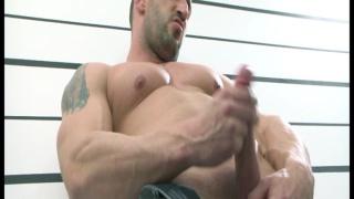 unsuiting a scruffy masculine hunk
