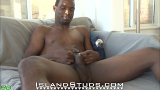Hung Black College Dude Beating Off