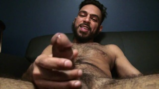 super hairy billy blanco fisting his fat cock