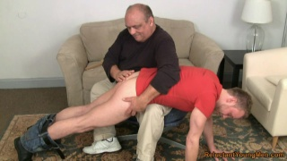 big bald daddy spanking a bad boy