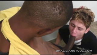large brazilian dick down his throat