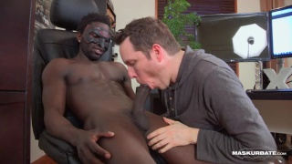 white man sucking off a large black cock