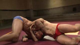 Nude wrestling match - Jaxton Wheeler vs Joey Carter