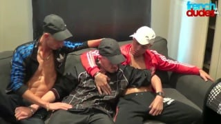 french chav gets two cocks