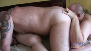 big burly men in bedroom threeway