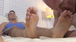 sniffing, fondling, and fucking these size 11 feet