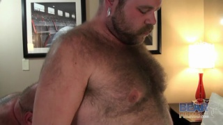 sam lets us admire his hairy chest while he jacks off