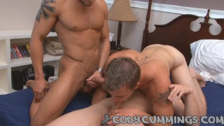 All male threesome 1st time for Cody