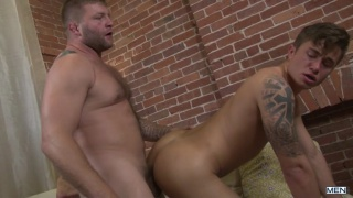 Colby gives Leo's tight ass a warm welcome