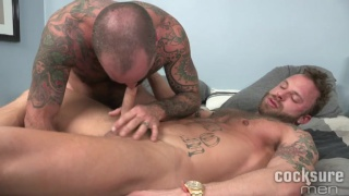 tattooed daddy bare fucks his inked bottom