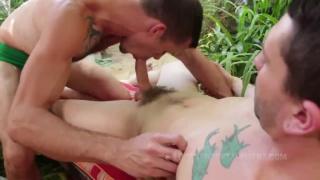 Jackson Fillmore & Jimmie Slater fuck each other in garden