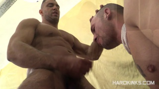 spanish top hunk force feeds his sub dick