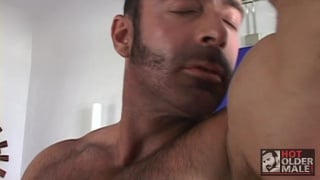 hairy hunk brad kalvo unloading his nuts