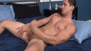 joey moriarity plunging his cock with a fleshjack