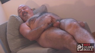 spanish daddy with curved uncut cock