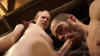 damon dogg gobbles another cum load