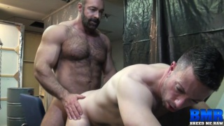 giving his beautiful round ass to a hairy daddy