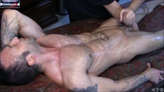 ripper furry guy dildo fucked and stroked off