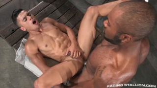 armond rizzo takes a huge black cock up his ass