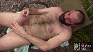 daddy bear Steve Sommers gets naked in backyard