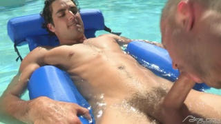 colt rivers gives jack king a deep blowjob by the pool