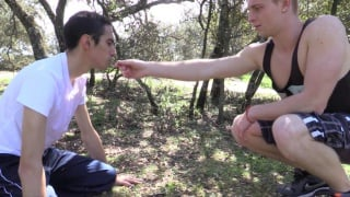 TYLER RODING trains his SLAVE in the forest