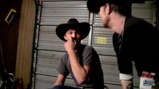 cowboys stroking in the garage