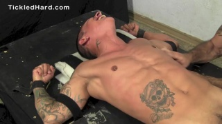 johnny's first bondage tickling session